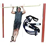 Adjustable Pull Up / Chin Up Assistance Band - Fits Any Pull Up Bar - Up to 200 Pounds of Assistance - For Weight & Strength Training - Fits Men, Women, & Teens - From RiverView Enterprise