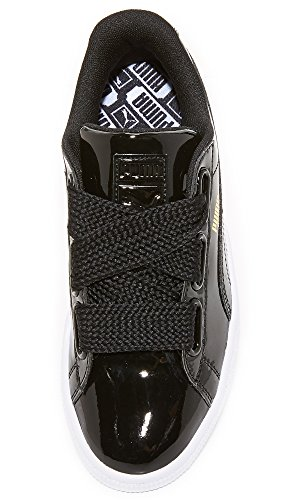 Sneaker Fashion Black Patent Heart Basket Wn's PUMA Women's Black puma Puma RZU1Y