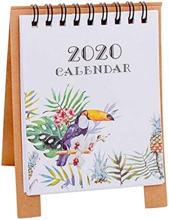 Deng Xuna 2020 Mini Tischkalender, Niedliche Cartoon Stand Up Flip Kalender Neujahr Täglich Monatlich Coil Kalender Tabelle Memorandum Plan Kalender für Home School Office