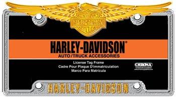 harley davidson eagle deluxe license plate frame