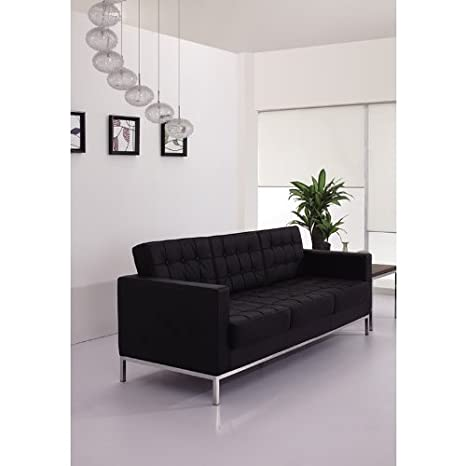 Amazon.com: 1pc moderno sofá de recepción de oficina de piel ...