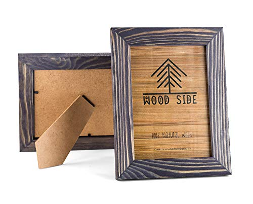 Rustic Wooden Picture Frame 5x7 Inch - Set of 2-100% Natural Eco Distressed Wood and Real Glass - Made for Wall and…