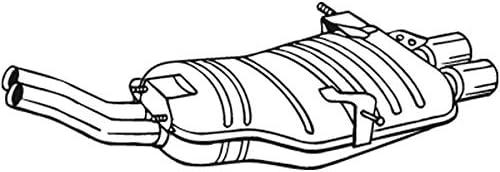 Bosal 247 531 Endschalldämpfer Auto