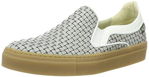 Jonny`s Vegan Delfina, Sneaker Basse Donna Mehrfarbig (Gris / Blanco)