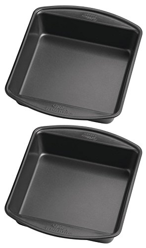 Wilton Perfect Results 8-Inch Square Cake Pan, Pack of 2 Pan
