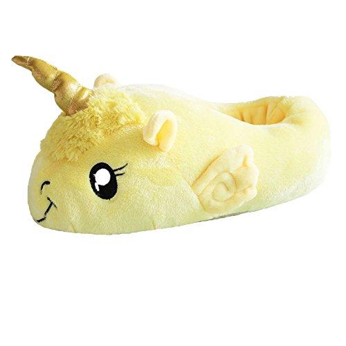 Unicornio Felpa Suave Calentar Zapatillas Zapatos 1 talla para todos, 36-41 Nuevo Amarillo