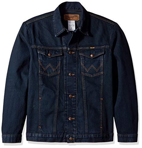 (Wrangler Men's Western Style Unlined Denim Jacket, Dark Dye XL)