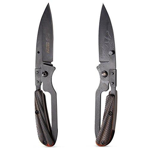 BELK Keen Gardener Prunning Knife Non Lock Folding Knife Magnum Carbon Steel Pocket Knife with Pakkawood Wood Handle