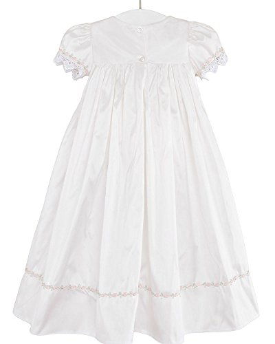 Tess 18 Month Silk Christening Baptism Blessing Gown for Girls, Made in USA by One Small Child (Image #3)
