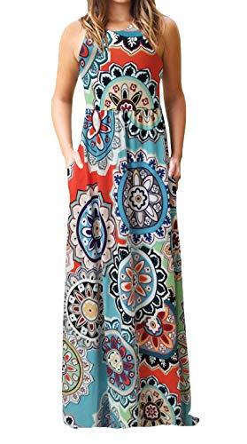 Cotton Wrap Dress Sleeveless - Maxi Sundresses Women Sunflower Casual Loose Cotton Sleeveless Tank Wrap Dresses XL Floral 3