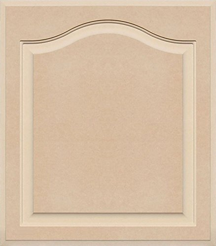 Unfinished Arch Top Cabinet Door in MDF by Kendor, 24 High x 21 Wide