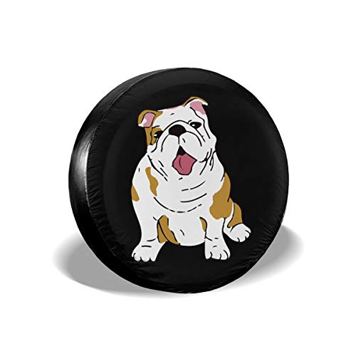 Ybdr94K@ Spare Tire Cover English Bulldog Durable Universal Wheel Tire Cover for Trailers, RV, SUV, Trucks and Many Vehicle, 14
