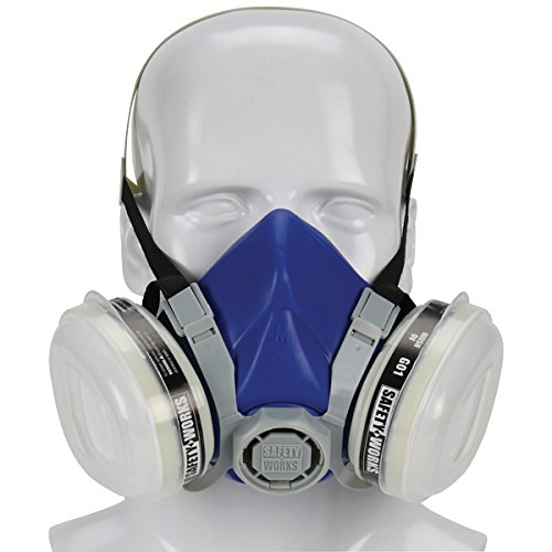 Safety Works SWX00318 Paint & Pesticide Respirator, Half-Mask, Niosh Ov/P95 by Safety Works