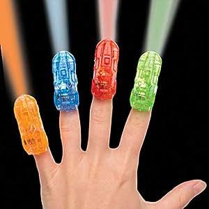 Baker Ross Car Finger Lights (Pack of 4) for Kids Party Bag Fillers - Battery Included