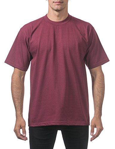 - Pro Club Men's Heavyweight Cotton Short Sleeve Crew Neck T-Shirt, 3X-Large, Maroon