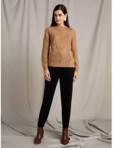 Oltre : Pantalon en Point de Milan Noir 42 (Italian Size)
