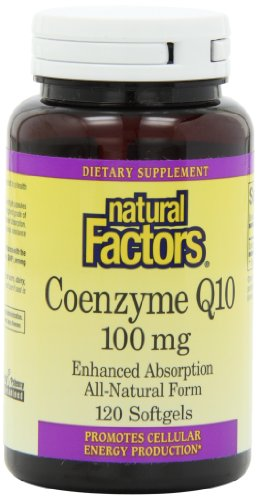 Natural Factors Coenzyme Q10 100mg Capsules, 120-Count
