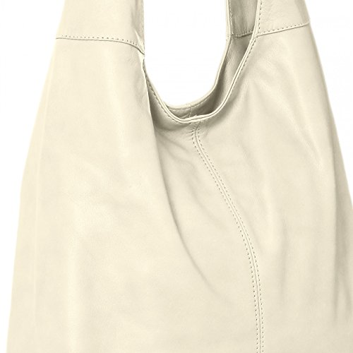 Colours tote Womens shopper Soft Leather Cream White From Handbag Bag Caspar Tl610 Made Nappa Many shoulder 7Xwaq