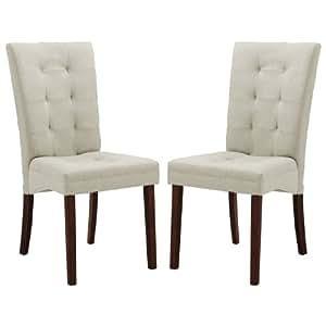 Amazon Com Baxton Studio Anne Fabric Modern Dining Chair