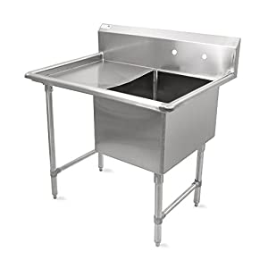 John Boos B Series Stainless Steel Sink, 14″ Deep Bowl, 1 Compartment, 24″ Left...