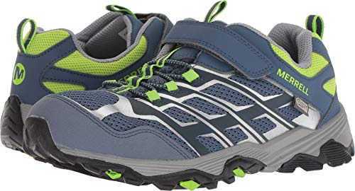 Merrell Boys' Moab FST Low a/C Waterproof Hiking Shoe, Grey/