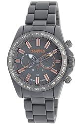 Haurex Italy Men's GO366UGO Aston Grey Plastic Multi function Tachymeter Watch