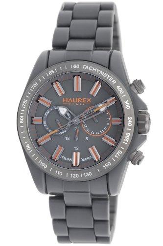 Haurex Italy Men's GO366UGO Aston Grey Plastic Multi function Tachymeter Watch - Aston Watch Stainless Steel