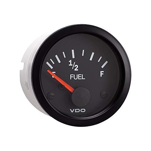 (Vdo Instruments Semi Truck Electrical Fuel Level Gauge Vision Black)