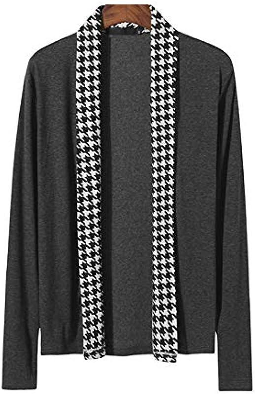 Mr.BaoLong&Miss.GO Men's Knitwearmen's Knitted Cardigan Sweater Jacke Męskie Casual Langarmjacke Strick Cardigan Sweater: Odzież