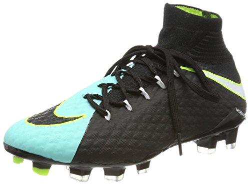 Nike Hypervenom Phatal 3 Dynamic Fit (Fg), Zapatillas de Fútbol para Mujer, Negro (Light Aqua/White-Black-Volt), 37.5 EU