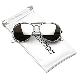 Cool Kids Aviator UV400 Sunglasses for Babies and Toddlers age 0 to 4 (Chrome Silver, 47)