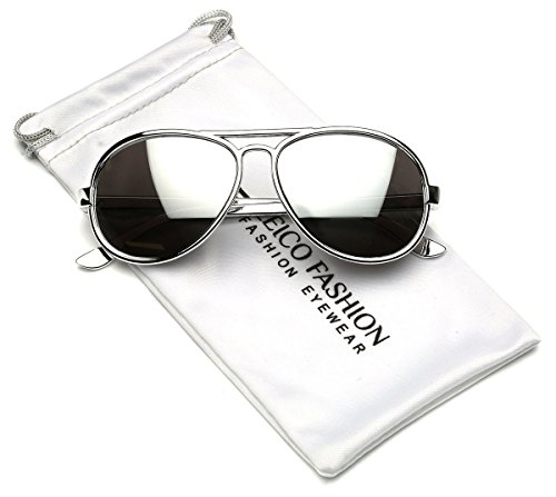 Cool Kids Aviator UV400 Sunglasses for Babies and Toddlers age 0 to 4 (Chrome Silver, - Baby Aviator Sunglasses