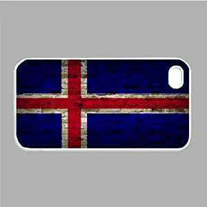 Iceland Flag Brick Wall iPhone 5 White Case - Fits iPhone 5