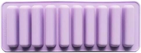 Funshowcase Rectangular Oblong Chocolate Cracker Bar Stick Block Ice Cube Jelly Tray Cylinder Silicone Candy Mold