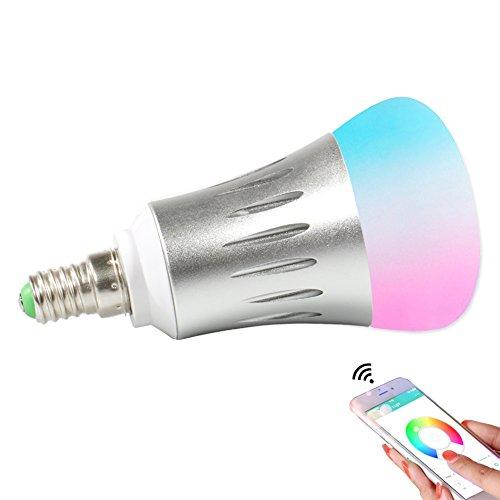 Expower Smart LED WiFi Lampen,7W Dimmbar Mehrfarbig RGB LED Birne E14 Glühbirnen ändern Stimmung Licht Arbeit mit Smartphone,Tablet, Amazon Echo Plus Alexa,Google Home,Steuerbar via App
