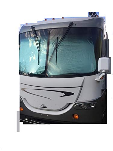 (Newport West RV Motorhome Collapsible Sunshade Class A LARGEST MADE -(2 panel shade) 2 qty. 50