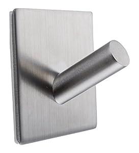 TTEEKO Bathroom Towel Hooks, 3M Self Adhesive Wall Hooks Organizer Rack  Premium SUS304 Stainless Steel Brushed Wall Hook For Bathroom