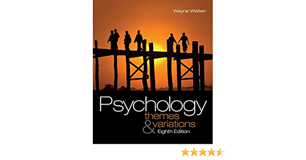Amazon Com Study Guide For Weiten S Psychology Themes And Variations 8th 9780495602361 Weiten Wayne Books