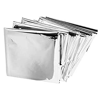 "Emergency Mylar Blankets - 84"" X 52"" (1 pack, Silver)"
