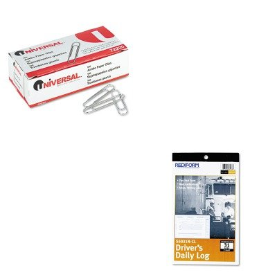 (KITREDS5031NCLUNV72220 - Value Kit - Rediform Driver's Daily Log (REDS5031NCL) and Universal Smooth Paper Clips (UNV72220))