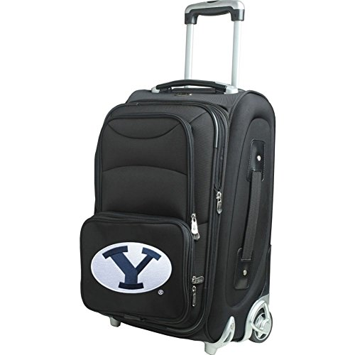 picture of NCAA BYU Cougars In-Line Skate Wheel Carry-On Luggage, 21-Inch, Black