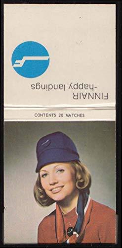 - Finnair Airlines Happy Landings stewardess matchbook ca 1960s