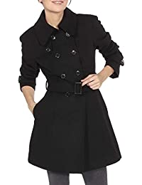 Women's AS712 Keira Wool Double Breasted Belted Trench Coat