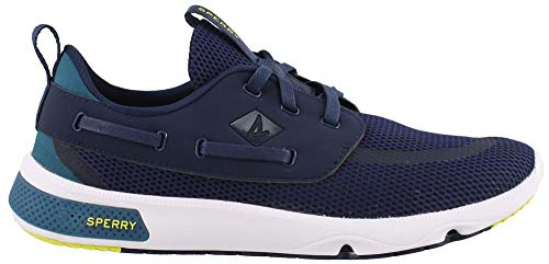 (SPERRY Men's, 7 Seas 3 Eye Lace up Shoes Navy MESH 12)