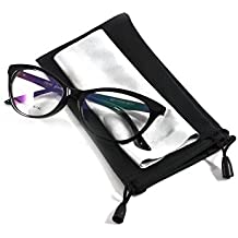 Fake Glasses,Dwarm Fashion Cat Eye Transparent Clear Black Frame Glasses for Women, Men, Girls, Kids, Boys