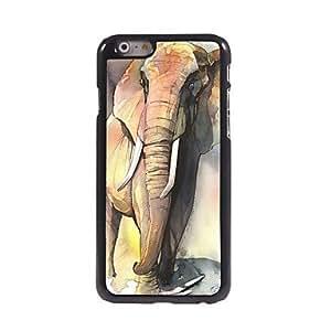 PG Elephant Pattern Aluminum Hard Case for iPhone 6 Plus