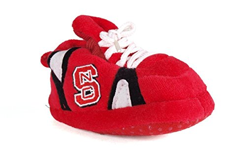 NCS03PR - North Carolina State Wolf Pack NCAA Happy Feet Baby Slippers