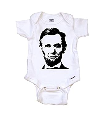Amazon.com: Abraham Lincoln 16th President Cool Baby Onesie ...