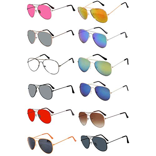 (Aviator Sunglasses (w 12 pairs mix aviators))