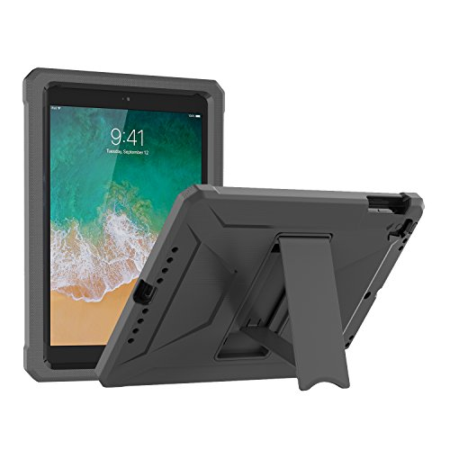 BMOUO New iPad 9.7 inch 2017/2018 Case, Heavy Duty Kickstand